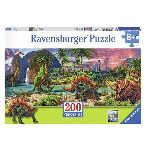 Image of Ravensburger 12747 - Puzzle XXL 200 Pz - Nel Paese Dei Dinosauri