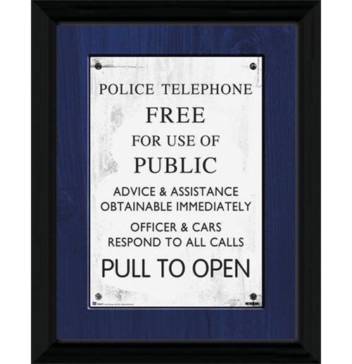 Image of Doctor Who - Tardis Sign (Foto In Cornice 30x40cm)