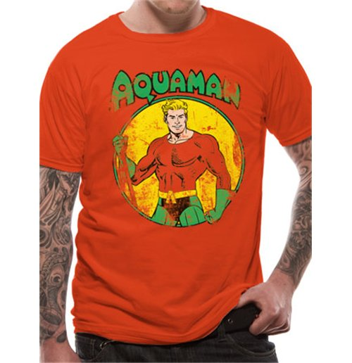 Image of Aquaman - All The Heroes Distressed (T-SHIRT Unisex )