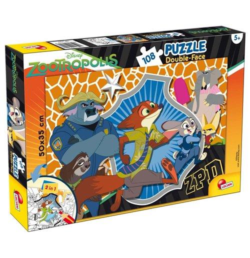 Image of Zootropolis - Puzzle Double-Face Plus 108 Pz