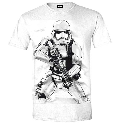 Image of Star Wars - The Force Awakens - Trooper Sketch White (T-SHIRT Unisex )