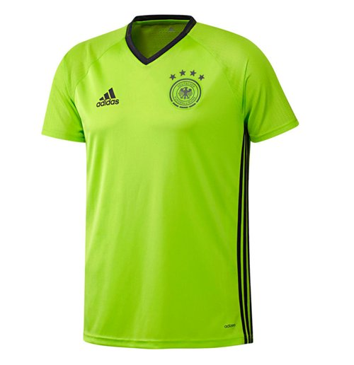 Image of T-shirt Germania 2016-2017 Adidas Players (verde acido)