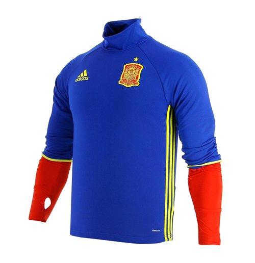 Image of Maglia allenamento maniche lunghe Spagna 2016-2017 Adidas (Blu)
