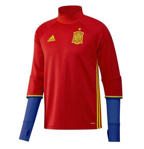 Image of Maglia allenamento maniche lunghe Spagna 2016-2017 Adidas (Rossa)