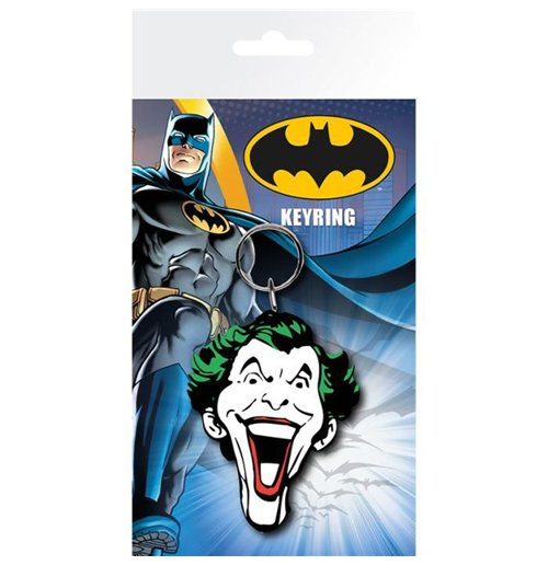 Image of Batman Comic - Joker Face (Portachiavi Gomma)