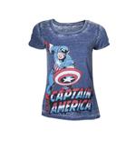 T shirt Captain America da donna M