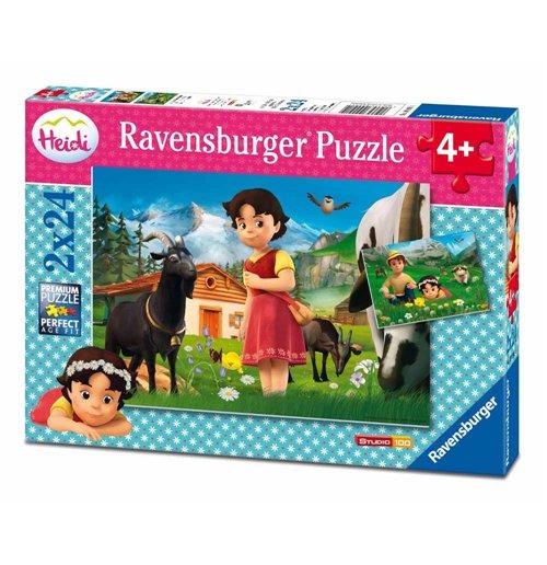 Image of Ravensburger 09091 - Puzzle 2x24 Pz - Heidi