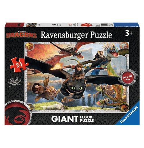 Image of Ravensburger 05435 - Puzzle Da Pavimento 24 Pz - Dragons - In Volo Con Sdentato