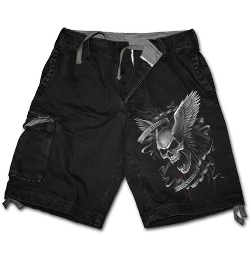 Image of Ascension - Vintage Cargo Black (pantaloncini )