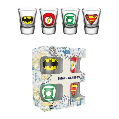 glas-superhelden-dc-comics-x-4-stuck