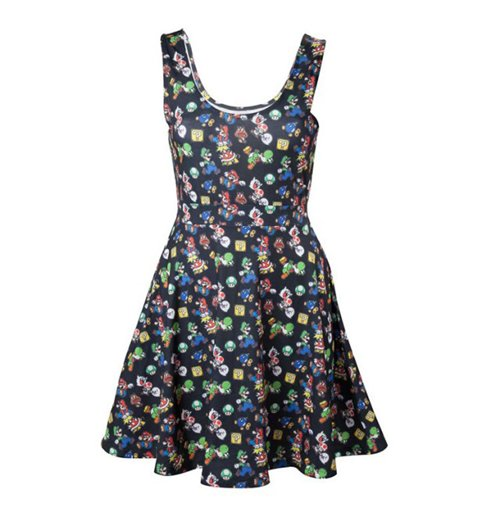 Image of Nintendo - Mario Dress Black (abito Donna )