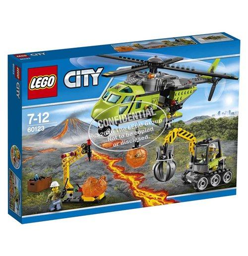 Image of Lego 60123 - City - Elicottero Dei Rifornimenti Vulcanico