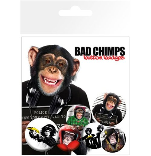 Image of Bad Chimps - Mix (Badge Pack)