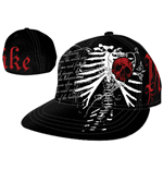 kappe-pike-apparel-black-wilde-bill-mit-red-skull-patch