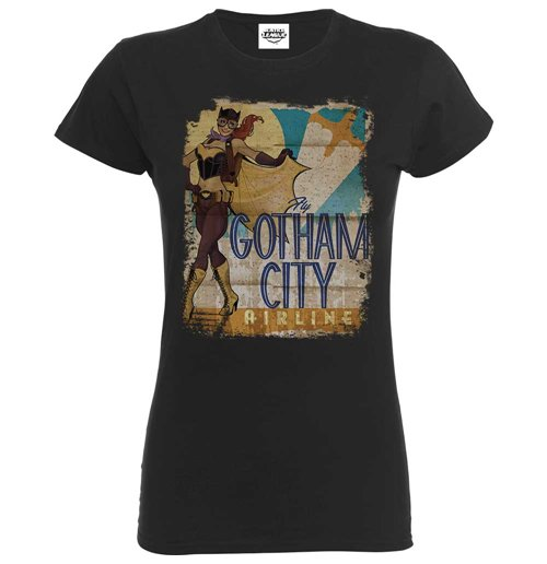 Image of T-shirt Bombshell Justice League Bombshell Batgirl Gotham City Airlines