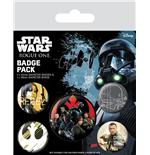 star-wars-rogue-one-ansteck-buttons-5er-pack-rebel, 4.39 EUR @ merchandisingplaza-de