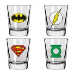 DC Comics Set 4 verres à liqueur Heroes