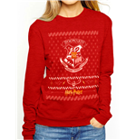 sweatshirt-harry-potter-christmas-crest-crew-in-rot-unisex