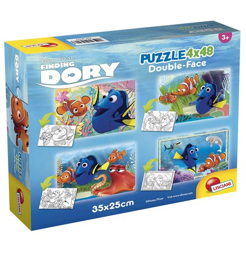 Image of Alla Ricerca Di Dory - Puzzle Double-Face Super 4x48 Pz