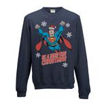 sweatshirt-superman-christmas-hero-unisex-in-blau