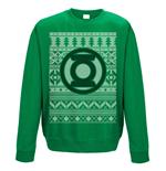 sweatshirt-die-grune-laterne-fair-isle-logo-unisex-in-grun
