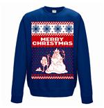 sweatshirt-adventure-time-merry-christmas-unisex-in-blau