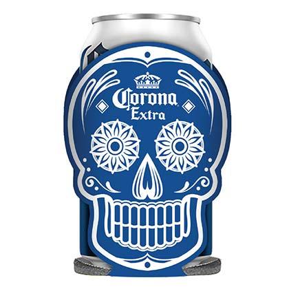 Image of Koozie Corona Corona Dia De Los Muertos Glow In The Dark