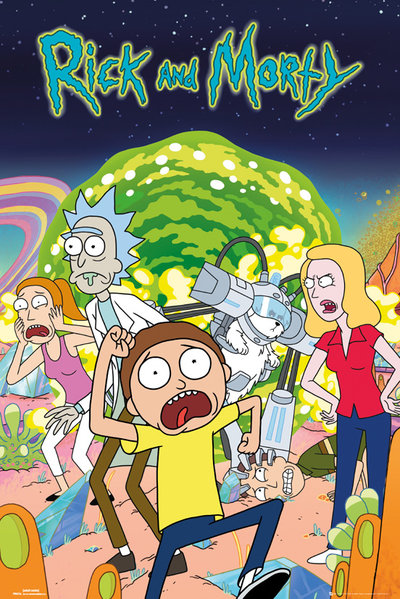 poster-rick-and-morty-group