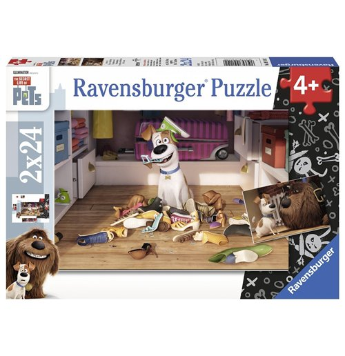 Image of Ravensburger 09110 - Puzzle 2x24 Pz - Secret Life Of Pets - Finalmente Soli