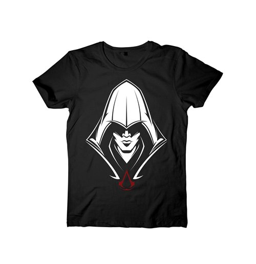 Image of ASSASSIN'S Creed - Black Hooded Assassin Black (T-SHIRT Unisex )