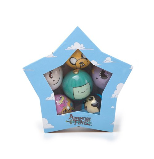 Image of Adventure Time - Xmas Decor Set Of 6 Balls Multicolor