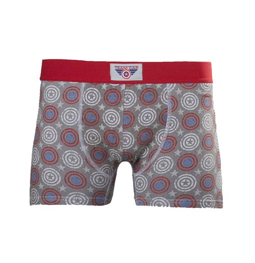 Image of Captain America - Printed Boxershort With Woven Label On Waistband (boxer )