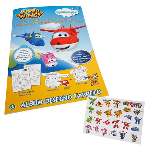 Image of Super Wings - Quadernone - Album Da Disegno Con Stickers Attacca-Stacca