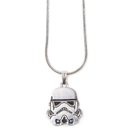 Image of Star Wars - Stormtrooper Helm Silver Necklace Pendant Necklaces U Silver