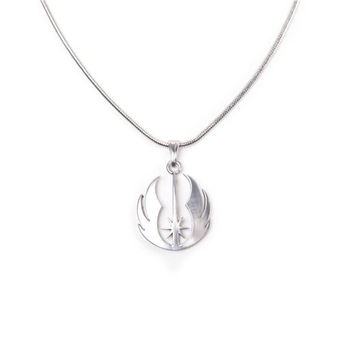 Image of Star Wars - Jedi Order Silver Necklace Pendant Necklaces U Silver