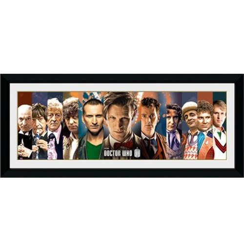 Image of Foto In Cornice Doctor Who - 11 Doctors - 76x30 Cm