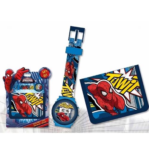 Image of Set orologio+portafogli Spiderman