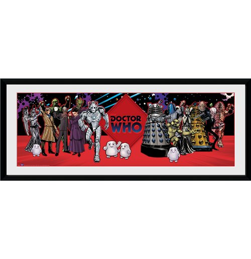 Image of Doctor Who - Villains (Stampa In Cornice 75x30 Cm)
