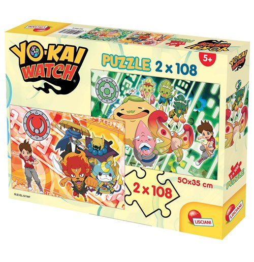 Image of Yo-Kai Watch - Puzzle 2x108 Pz - A New Adventure Begins