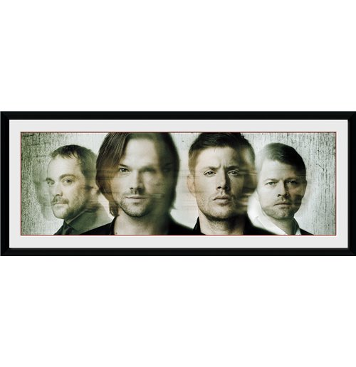 Image of Supernatural - Group  (Stampa In Cornice 75x30 Cm)