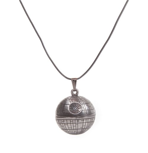Image of Star Wars - Death Star Necklace Pendant Necklaces U Silver