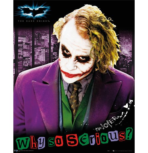 Image of Batman (The Dark Knight) - Joker Solo (Poster Mini 40x50 Cm)