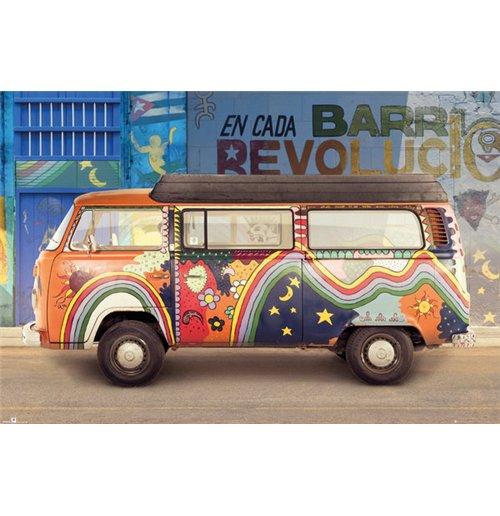 Image of Vw Camper - Camper Cuba (Poster Maxi 61x91,5 Cm)