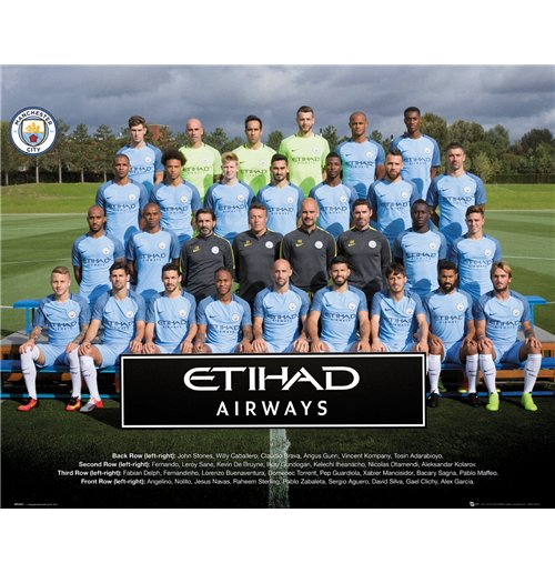 Image of Manchester City - Team Photo 16/17 (Poster Mini 40x50 Cm)
