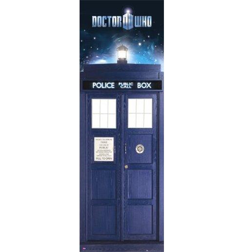 Image of Doctor Who - Tardis (Poster Da Porta 53x158 Cm)