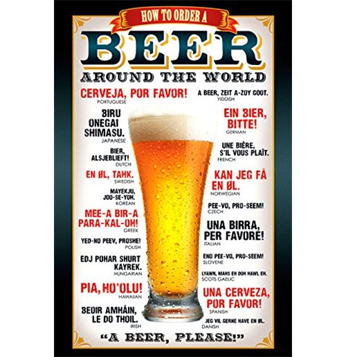 Image of Beer - How To Order (Poster Maxi 61x91,5 Cm)