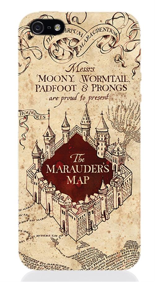 Image of Cover Iphone 5 Harry Potter Marauders Map Opaca