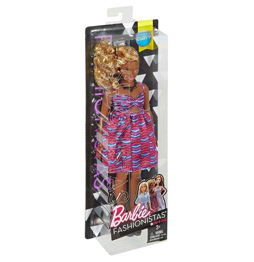 Image of Mattel DVX79 - Barbie - Fashionistas - 57 Zig Zag Curvy