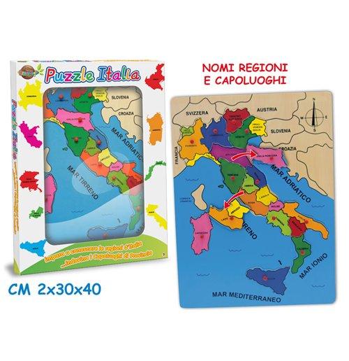 Image of Puzzle D'Italia Con Piolini 30x40 Cm