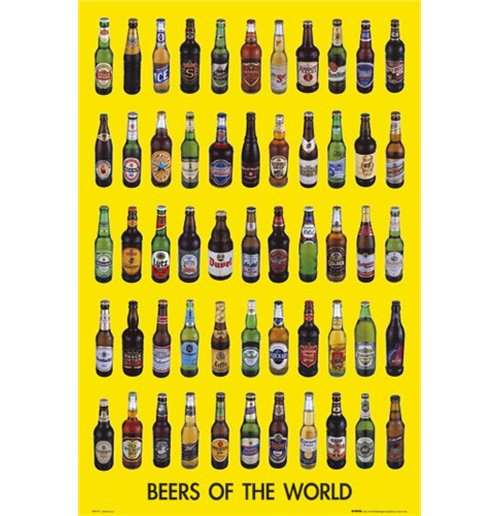 Image of Beers Of The World 2 (Poster Maxi 61x91,5 Cm)